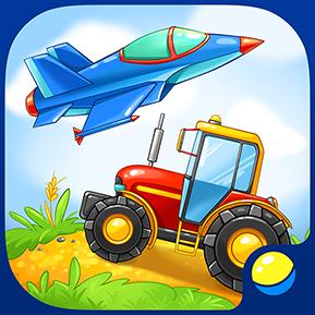 Транспорт для малышей — развивающая игра для детей
